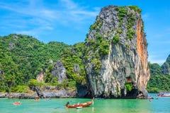 Piękna sceneria Phang Nga park narodowy w Tajlandia Zdjęcie Royalty Free
