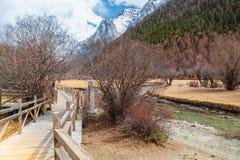 Piękna sceneria w Yading, Sichuan, Chiny jpg Fotografia Stock