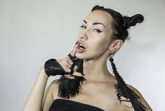 Piękna Seksowna Elegancka Emocjonalna kobiety twarz Obraz Royalty Free
