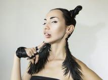Piękna Seksowna Elegancka Emocjonalna kobiety twarz Zdjęcie Royalty Free