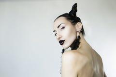 Piękna Seksowna Elegancka kobiety twarz Obrazy Royalty Free