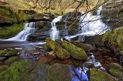 Piękna siklawa, Afon Caerfanell halna rzeka, Blaen-y-Glyn Obraz Royalty Free