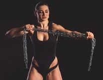 Piękna silna kobieta Zdjęcia Stock