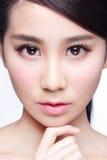 Piękna skóry opieki kobiety twarz Zdjęcie Stock