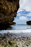 Piękna skalista zatoka Zdjęcia Royalty Free