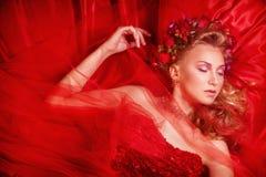 piękna smokingowa czerwony dziewczyny Obraz Royalty Free