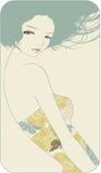 piękna smokingowa dziewczyna ilustracji