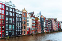 Piękna spokojna scena miasto Amsterdam Zdjęcie Stock