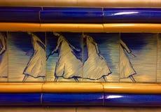 Piękna stacja metru w Lisbon Fotografia Stock