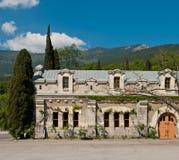 Piękna Stara fasada Massandra wytwórnia win w Yalta, Crimea Obrazy Stock