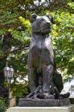 Piękna stara statua lew w kulturalnym sercu Odessa Fotografia Royalty Free