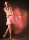 piękna sukni menchii kobieta Obrazy Royalty Free