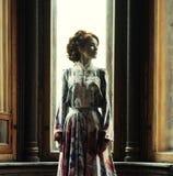piękna sukni menchii kobieta Zdjęcie Stock