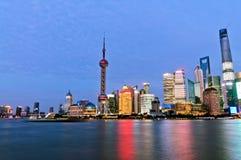 Piękna Szanghaj miasta noc Obraz Royalty Free