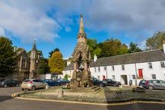Piękna Szkocka wioska Dunkeld kwadrat Dunkeld Szkocja Obraz Royalty Free