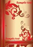 piękna tło czerwień ilustracja wektor