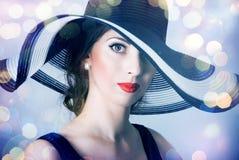 piękna tajemnicza kobieta Obraz Stock