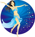 piękna tancerka brzucha Zdjęcia Stock