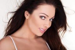 piękna target1494_0_ z ukosa kobieta Zdjęcie Stock