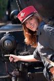 piękna target590_0_ taborowa kobieta Obrazy Royalty Free