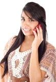 piękna telefon komórkowy mówienie Obraz Stock