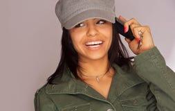 piękna telefon komórkowy potomstwa Fotografia Royalty Free