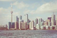 Piękna Toronto ` s linia horyzontu nad jeziorem Toronto, Ontario, Kanada zdjęcia royalty free