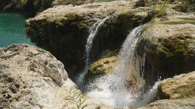 piękna tropikalna wodospadu Filipiny, Luzon Obrazy Royalty Free