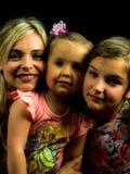 piękna trzy kobiety Matka i dwa doughters Zdjęcia Royalty Free
