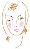 piękna twarz ilustracji