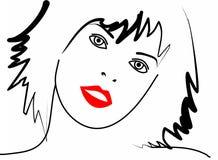 Piękna twarzy dziewczyna Obraz Stock