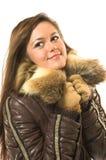 piękna ubrania zimowe dziewczyny Zdjęcia Royalty Free
