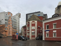 Piękna ulica w Moskwa Zdjęcie Stock