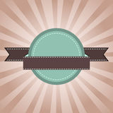 Rocznik etykietki zieleń z sunrays Zdjęcie Royalty Free