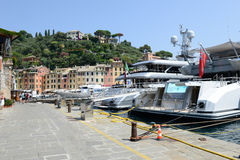 Piękna wioska Portofino Fotografia Royalty Free