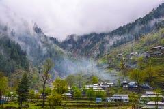 Piękna wioska w Naran Kaghan dolinie, Pakistan Obraz Royalty Free