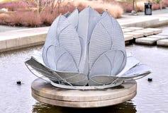 Piękna wodna fontanna Zdjęcia Stock