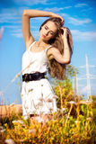 piękna wsi portreta kobieta Obrazy Royalty Free