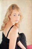 Piękna yound blondynki kobieta. Obrazy Royalty Free