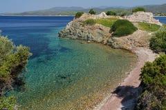 Piękna zatoka morze egejskie Grecja Zdjęcia Royalty Free