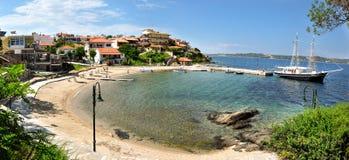 Piękna zatoka w Grecja Fotografia Royalty Free