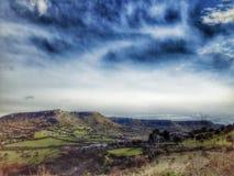 Piękna zielona dolina Zdjęcia Royalty Free