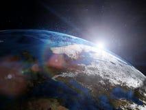 Piękna ziemia w przestrzeni Obrazy Stock