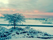 Piękna zima Obrazy Royalty Free
