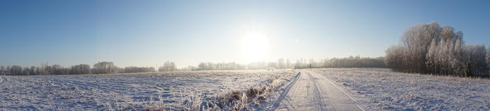 Piękna zima krajobrazu panorama Obrazy Royalty Free