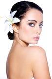 piękne brunetki portreta kobiety Fotografia Royalty Free