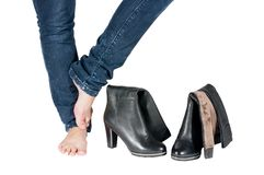 piękne butów kobiety nogi Obrazy Stock