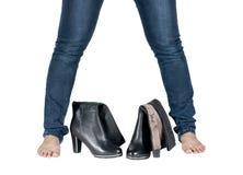 piękne butów kobiety nogi Obrazy Royalty Free