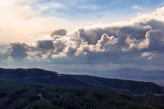 Piękne chmury przed zmierzchem Obraz Royalty Free