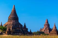 Piękne dziejowe Bagan pagody w Myanmar Zdjęcie Royalty Free